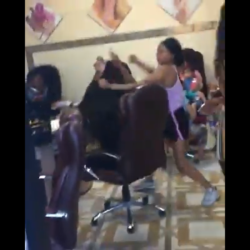 Woman Gets Jumped At Hair Salon While Getting Her Hair Did!