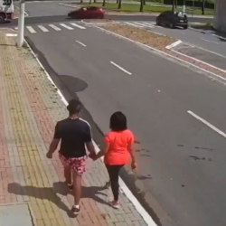 Couple Run Over By Car When Crossing Street!