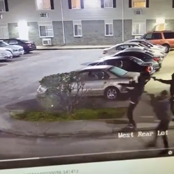 Dude Comes Out His House Shooting At Two Separate Groups That Was Getting Into A Shootout At His Apartment Complex!
