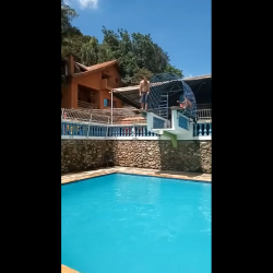 Dude Breaks His Neck After He Loss His Balance At Swimming Pool!