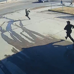 Thief Gets Brutally Hit By Car While Running From Police!