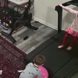 Little Boy Gets Dragged Under A Treadmill!