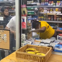 Stud Gets Jumped And Beat With A Pistol By Asian Store Employees Because She Got Mad Over Cigarettes!