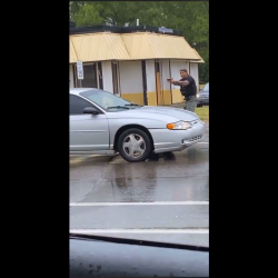 Woman Starts Crying After A Bullet Hit Her Car While Recording The Police Killing A Woman!