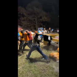 Man Beats A Group A Guys With A Chair After They Tried Jump Him!